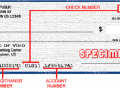 sample routing number on check