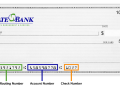 state bank routing number