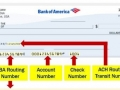 bank of america routing number