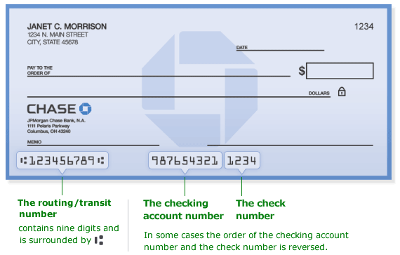 find bank routing number check